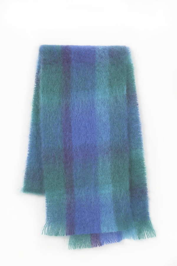 Ascot Blue Green Irish Mohair Scarf