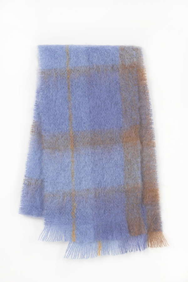 Blue Irish Mohair Scarf