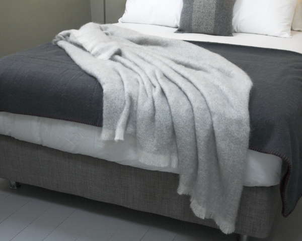 Grey Irish Mohair Throw