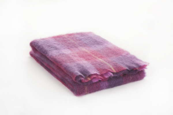 Berry Pink Irish Mohair Throw