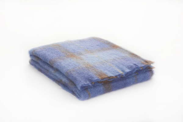 Bluebird Irish Mohair Throw