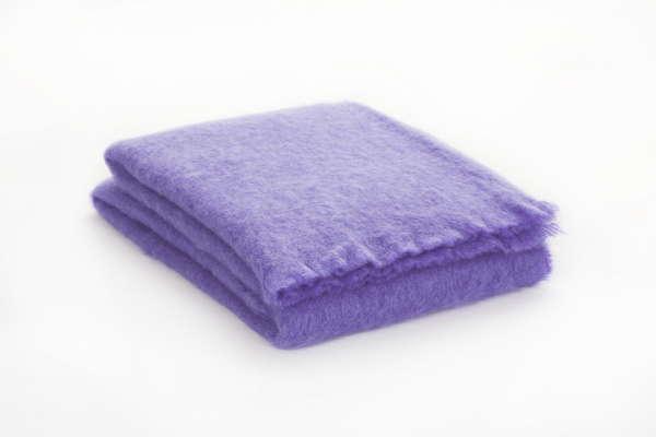 Lilac Purple Irish Mohair Throw