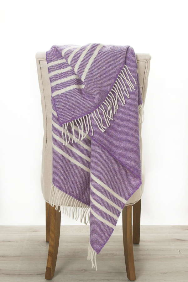 Purple Irish Wool Throw