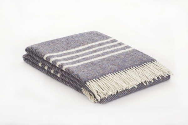 Blue Fleck Irish Wool Throw