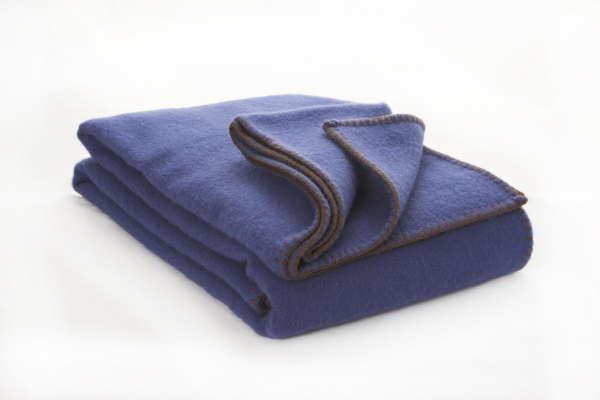 Cobalt Blue Irish Wool Blanket
