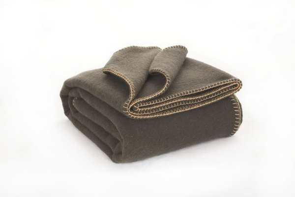 Loden Green Irish Wool Blanket