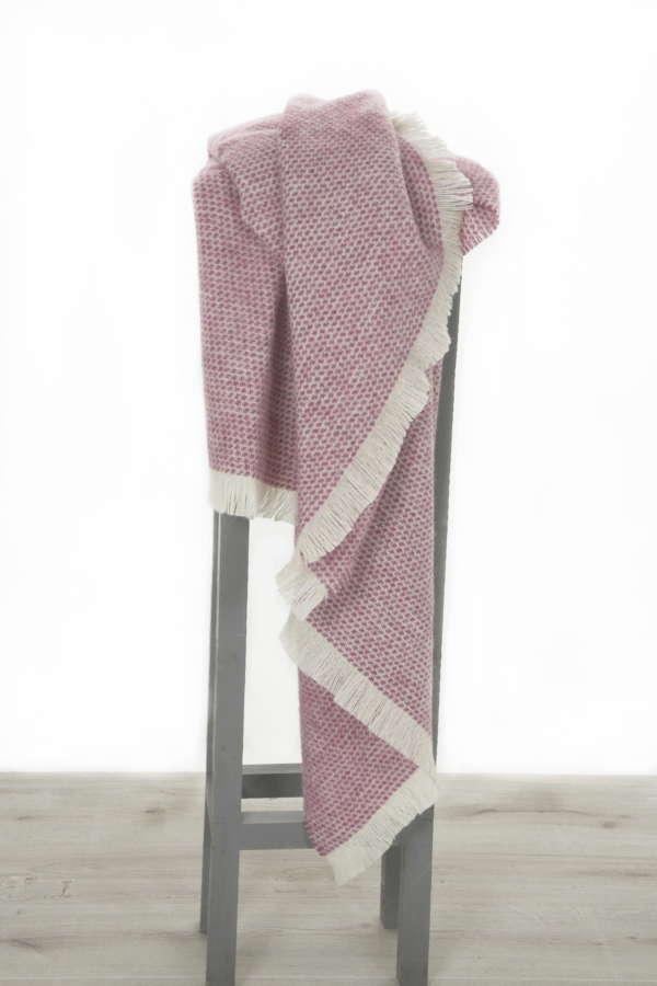 Berry Pink Kilkenny Wool Throw