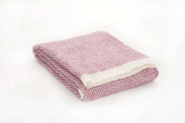 Pink Berry Kilkenny Wool Throw