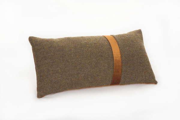 Ochre Brown Irish Tweed Cushion