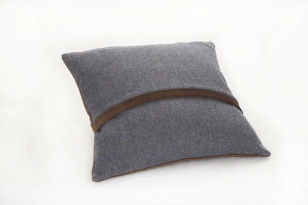 Blue Brown Irish Tweed Cushion