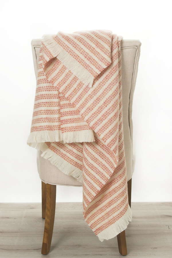 Salmon Kilkenny Irish Wool Throw