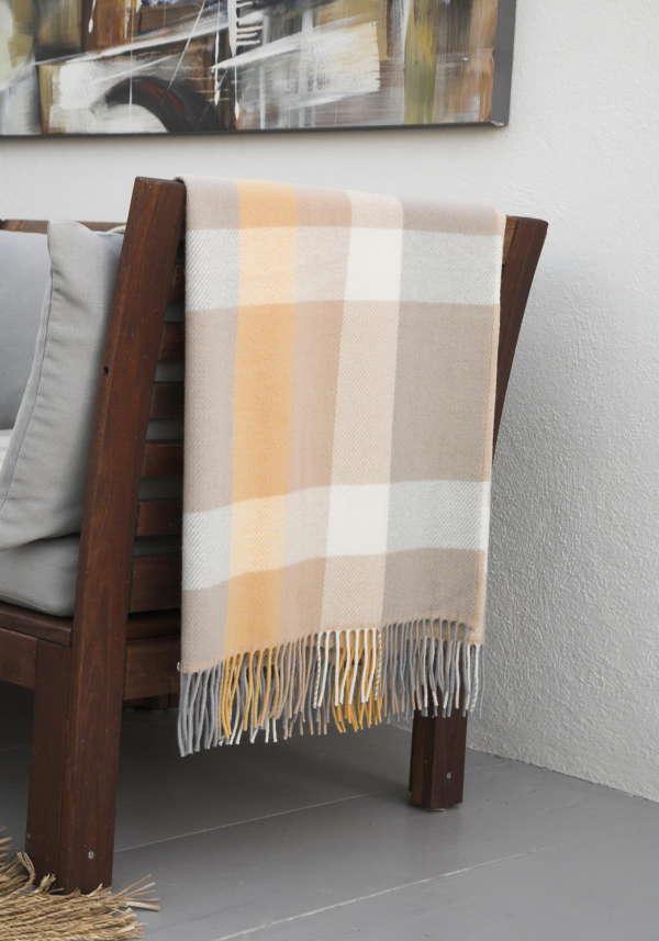 Sunray Yellow Irish Wool Throw