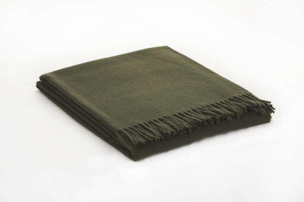 Moss Green Irish Wool Throw