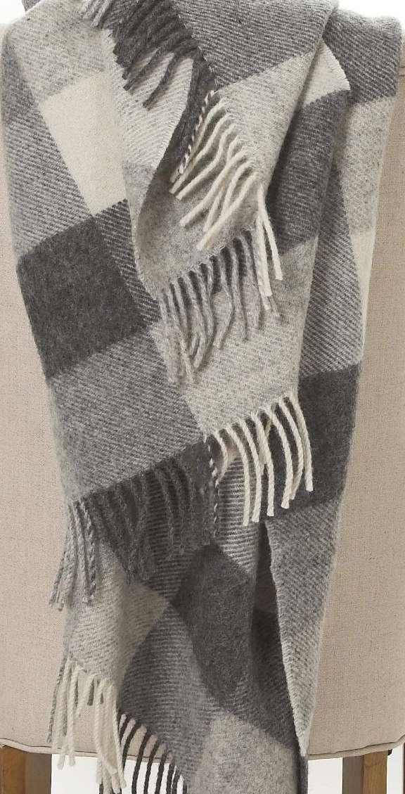 Grey Irish Wool Throw