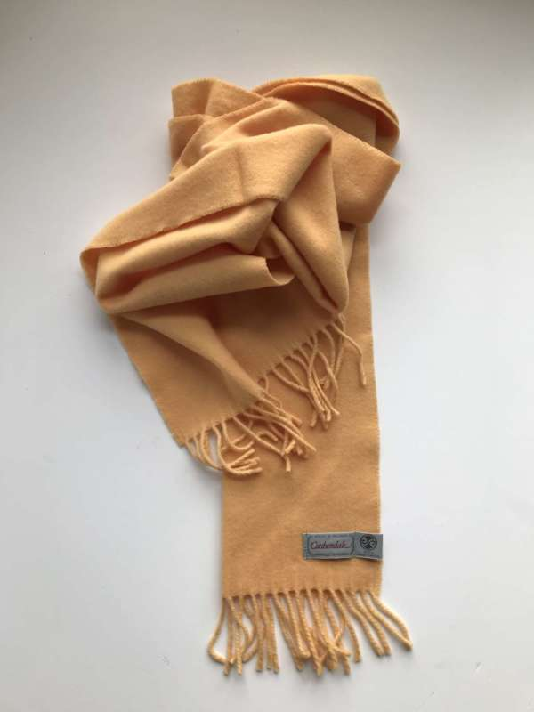Apricot Yellow Irish Wool Scarf