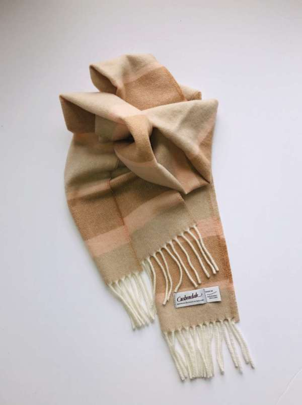 Beige Irish Wool Scarf