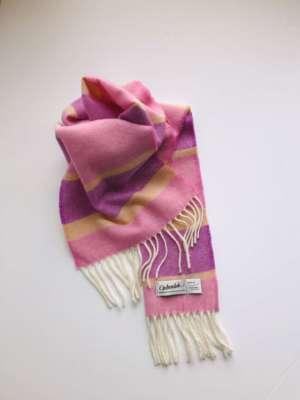 Pink Irish Wool Scarf