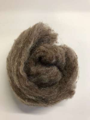 Brown Carded Wool