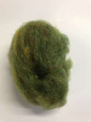Green Carded Wool